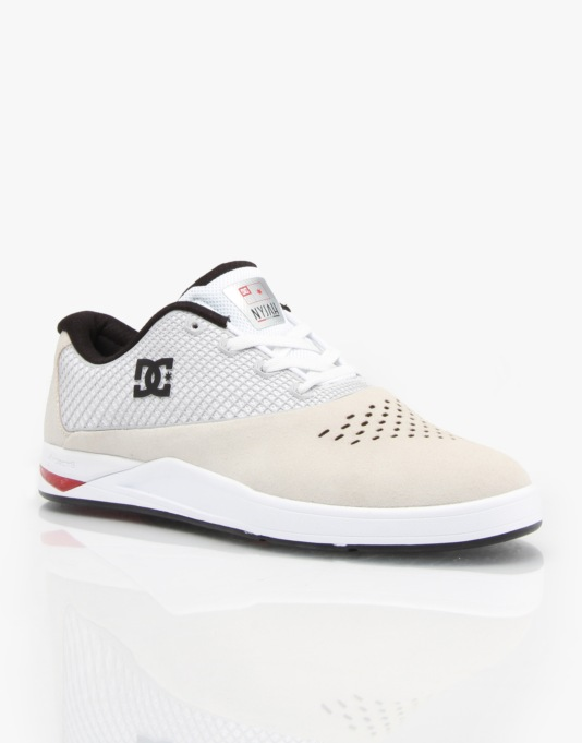 DC N2 by Nyjah Skate Shoes - White/Red