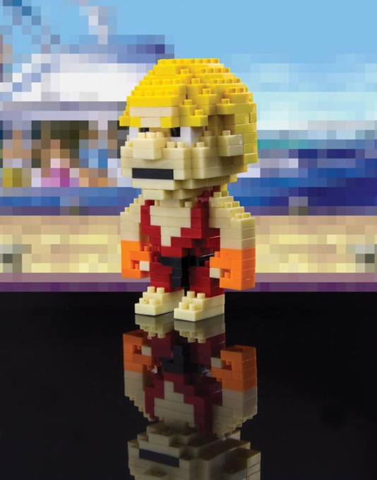 Street Fighter Pixel Bricks - Ken