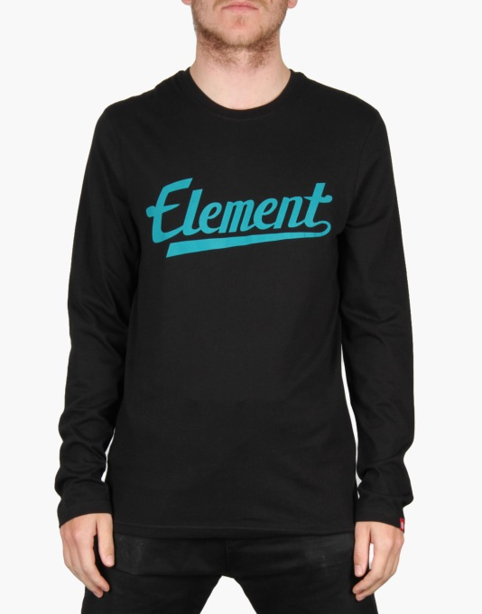 Element Signature L/S T-Shirt - Black