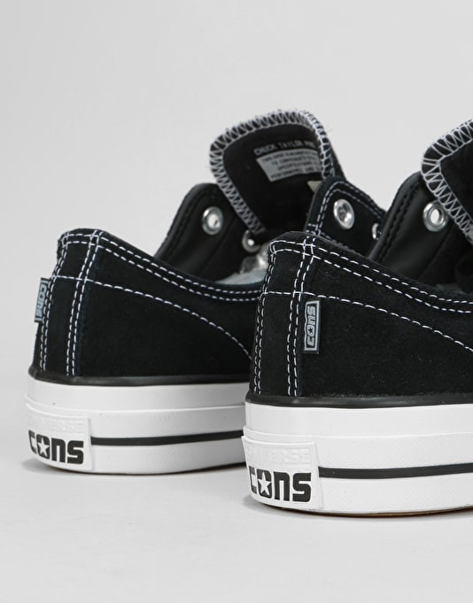 Converse CONS CTAS Pro Suede Skate Shoes - Black/Black/White