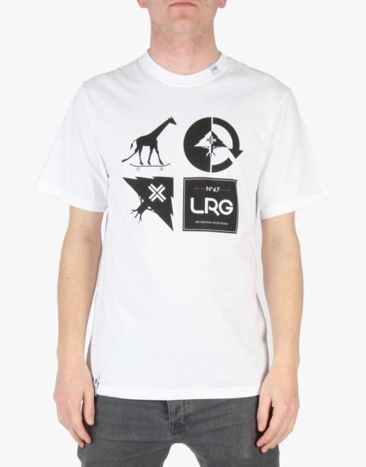 LRG RC Logo Mash Up T-Shirt - White