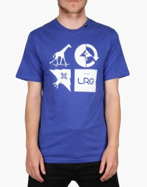 LRG Logo Mash Up T-Shirt - Deep Cobalt