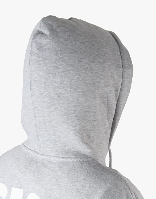 Girl Track Pullover Hoodie - Heather Grey