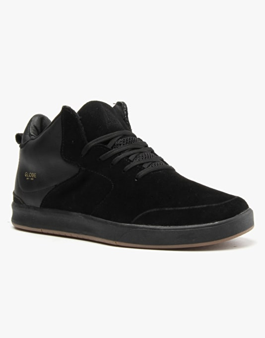 Globe Abyss (Chris Haslam Signature) Skate Shoes - Blackout