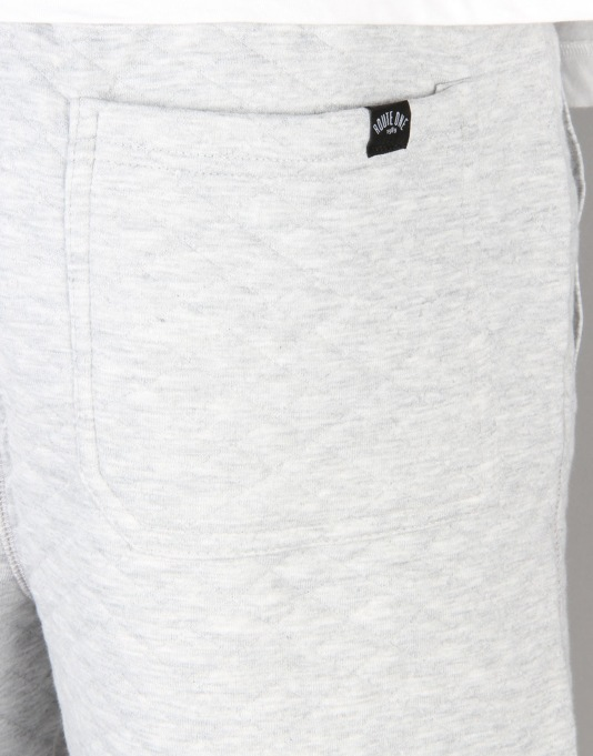 Route One Quilted Sweat Shorts - Heather Grey