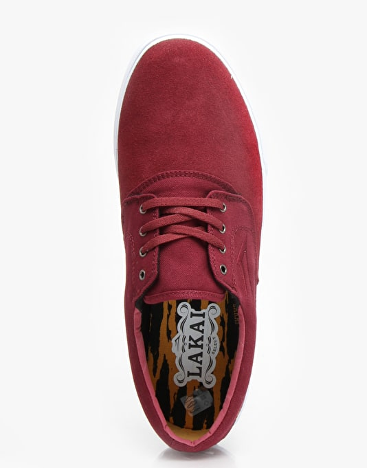 Lakai Camby Skate Shoes - Oxblood Suede