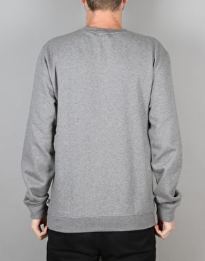 HUF Original Logo Crewneck Sweatshirt - Heather Grey
