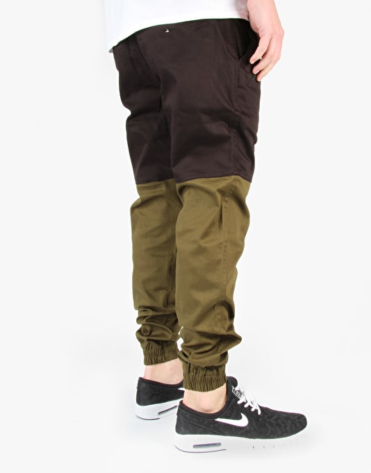 Publish Two-Tone Joggers - Black/Olive