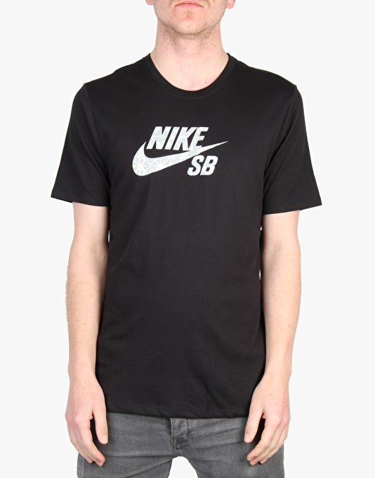 Nike SB Dri-Fit Geo Dye Icon T-Shirt - Black/Wolf Grey