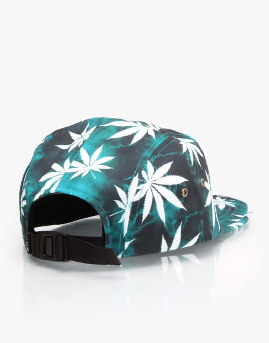HUF Tie Dye Plantlife Volley 5 Panel Cap - Jade