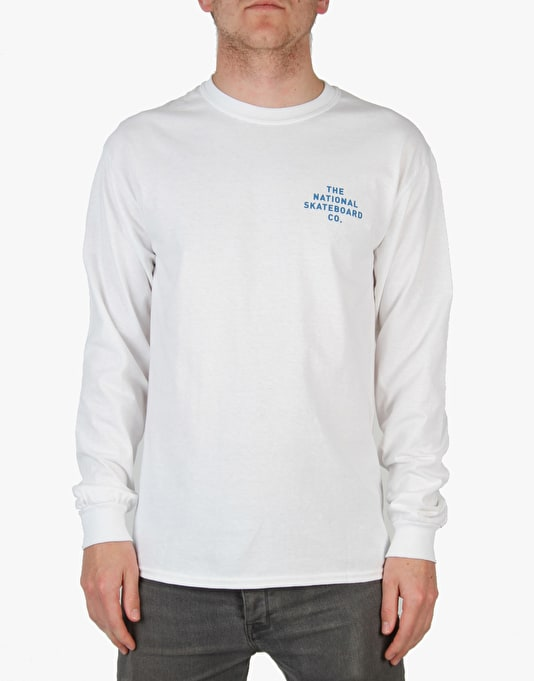 The National Skateboard Co. Fade L/S T-Shirt - White