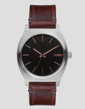 Nixon Time Teller Watch - Grey/Rose Gold/Brown
