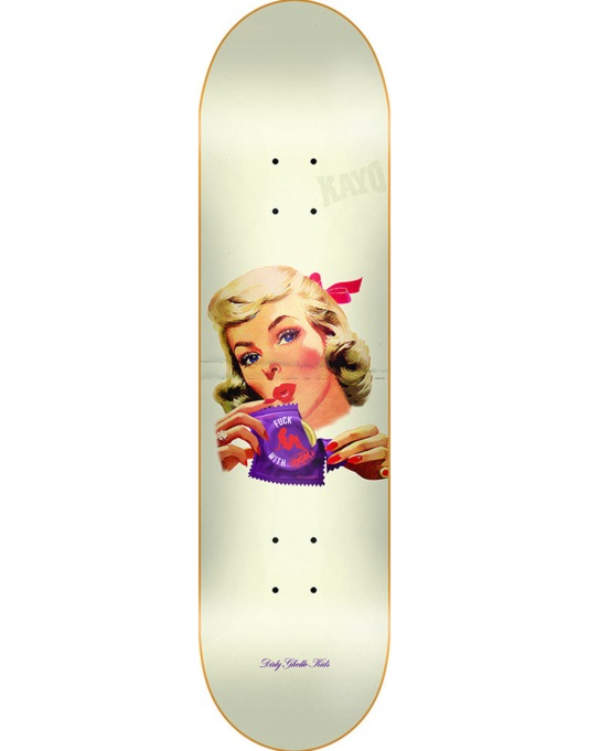 DGK F with It Skateboard Deck - 8.38""