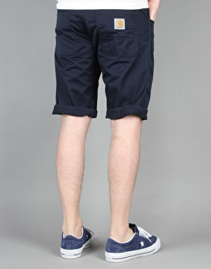 Carhartt Skill 'Cortez' Shorts - Duke Blue Rinsed