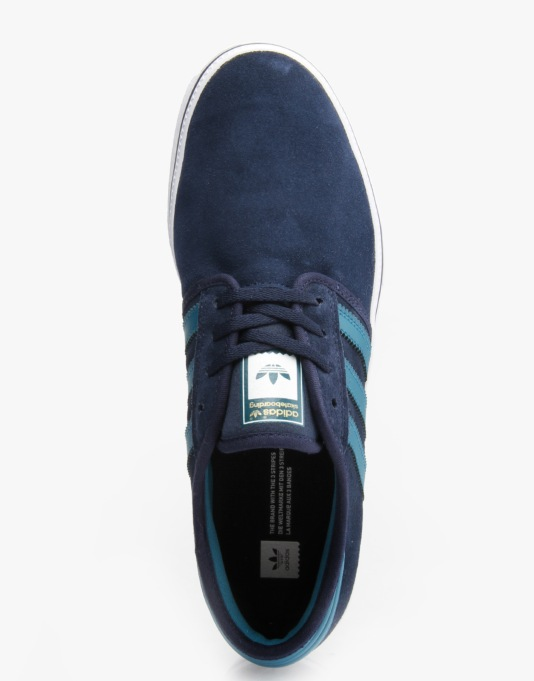 Adidas Seeley Pro Skate Shoes - Collegiate Navy/Surf Petrol/White