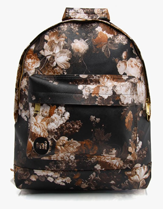 Mi-Pac Gold Bloom Backpack - Black/Sepia