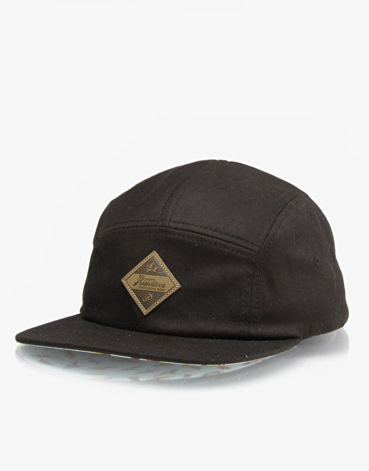 Primitive Feather 5 Panel Cap - Black