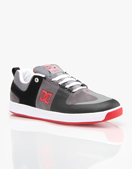 DC Lynx Prestige S Skate Shoes - Black/Grey/Red