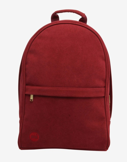 Mi-Pac Maxwell Suede Backpack - Burgundy