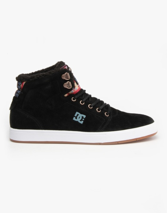 DC Crisis Hi WNT Skate Shoes - Black/Multi