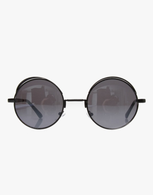 Route One Basics Eyelid Sunglasses - Black