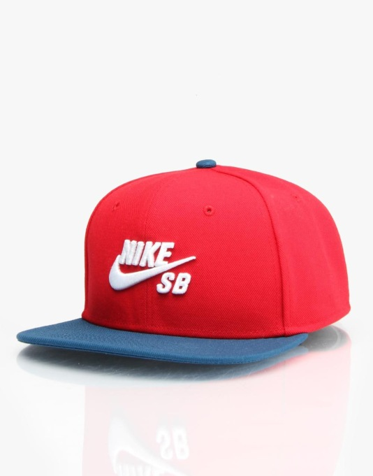 Nike SB Icon Snapback Cap - Gym Red/Blue Force/Black/White