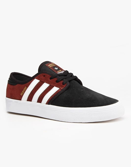 Adidas Seeley ADV Skate Shoes - Dark Rust F12/Ftwr White/Core Black