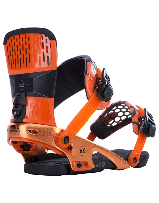 Ride x Akomplice Rodeo 2015 Snowboard Bindings - Orange AK