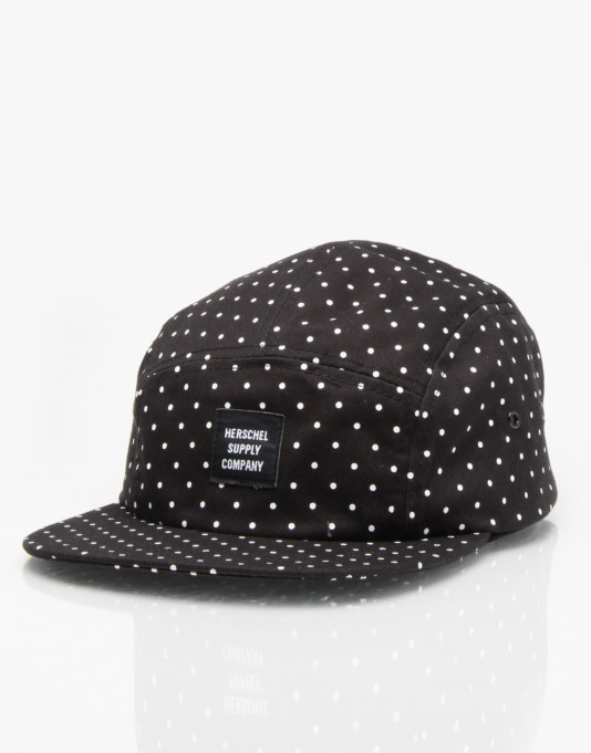 Herschel Supply Co. Glendale 5 Panel Cap - Polka Dot Small