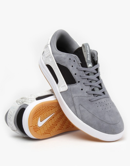 Nike SB Eric Koston Huarache Skate Shoes - Cl Grey/Blk-White-Gm Brwn
