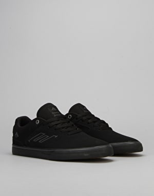 Emerica The Reynolds Low Vulc Skate Shoes - Black/Black/Black