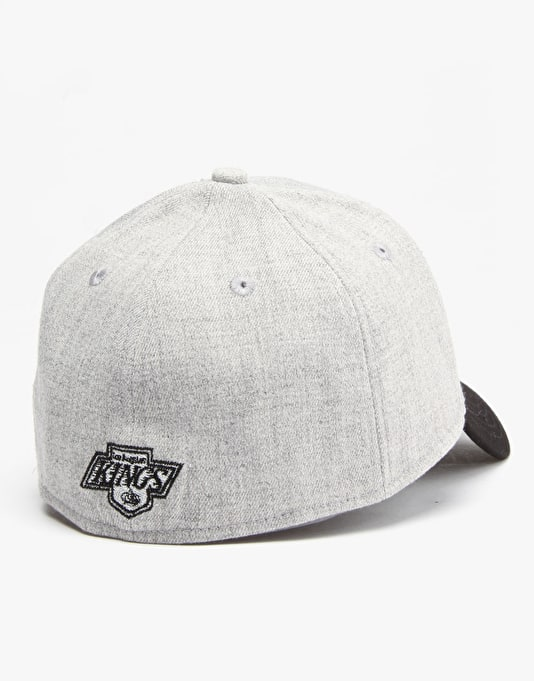 New Era MLB LA Kings Antique Script 39Thirty Snapback Cap - Grey/Black
