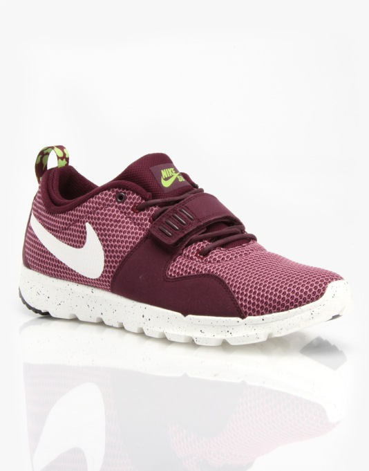 Nike SB Trainerendor Skate Shoes - Merlot/Sail/Flash Lime