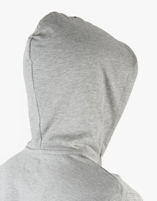 Stüssy Stripe Rugby Hood - Grey Heather