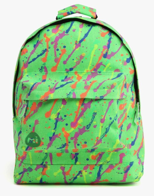 Mi-Pac Splattered Backpack - Neon Green