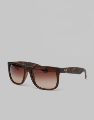 Ray-Ban Justin Sunglasses - Light Havana Rubber RB4165 710/13 55