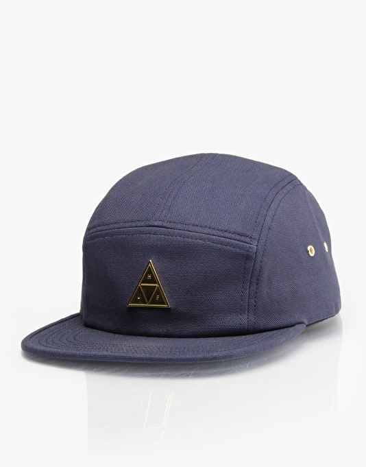 HUF Metal Triple Triangle Volley 5 Panel Cap - Navy