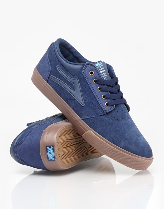 Lakai Griffin Skate Shoes - Navy/Gum Suede