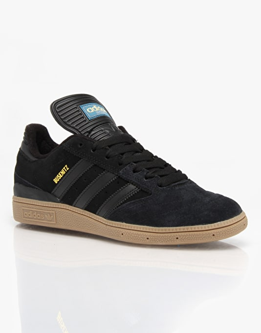 Adidas Busenitz Pro Skate Shoes - Core Black/Surf Petrol/Gold Metallic