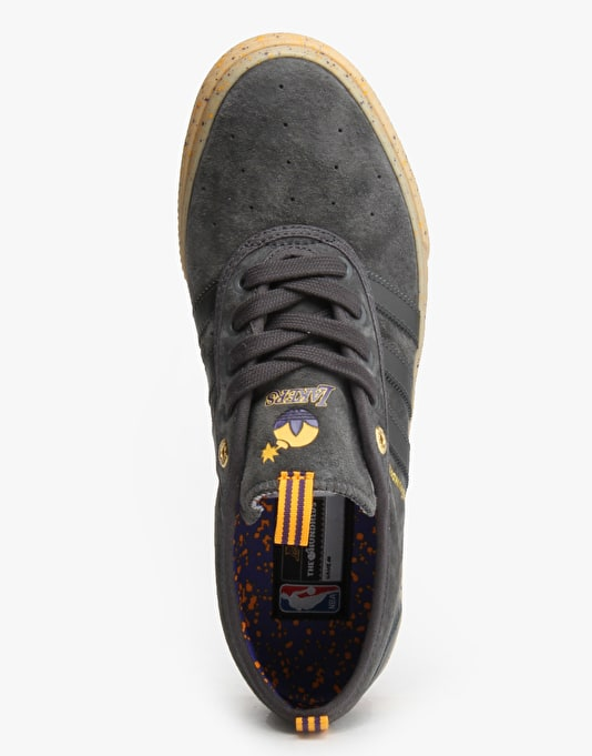 Adidas NBA x The Hundreds Adi-Ease Adv Skate Shoes - Grey/Purple/Gold
