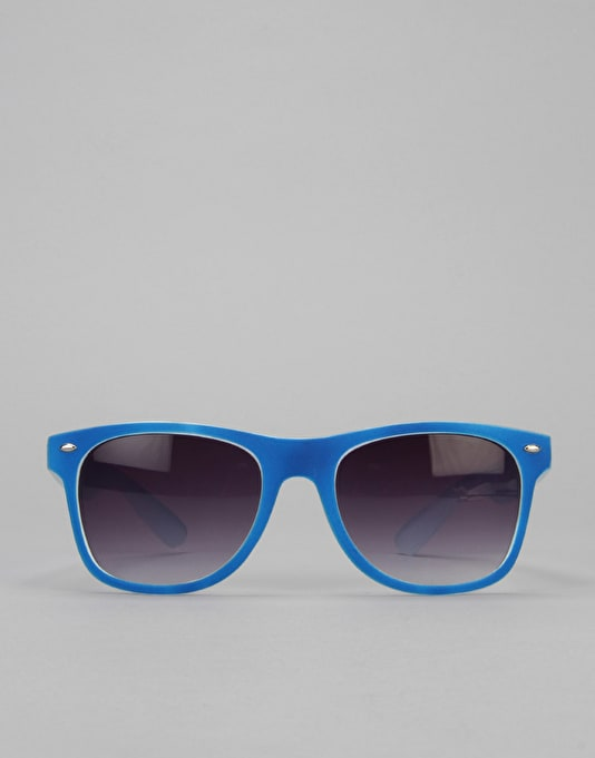 Route One Basics Tonal Wayfayer Sunglasses - Blue/White