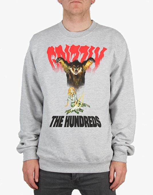 The Hundreds x Grizzly Bear Woods Crewneck - Athletic Heather