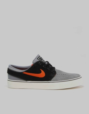 Nike SB Stefan Janoski Boys Skate Shoes - Cool Grey/Uni Orange/Black