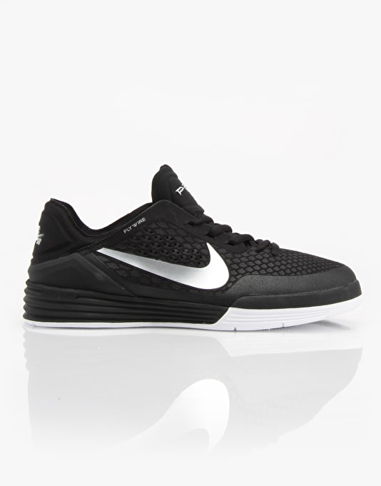 Nike SB Paul Rodriguez 8 Skate Shoes - Black/Metallic Silver/White