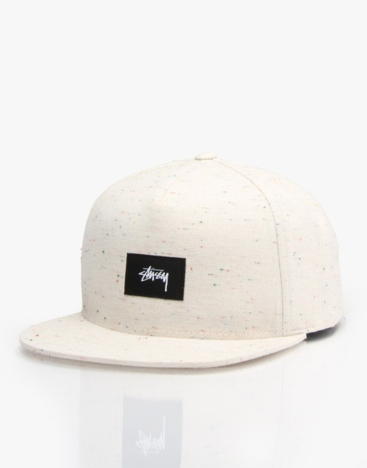 Stüssy Speckled Melange 5 Panel Cap - Cream