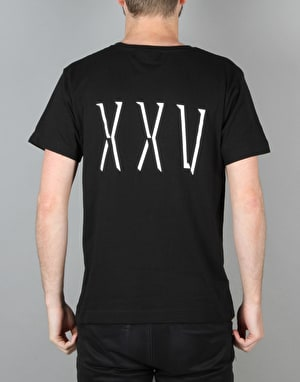 Route One XXV T-Shirt - Black/White