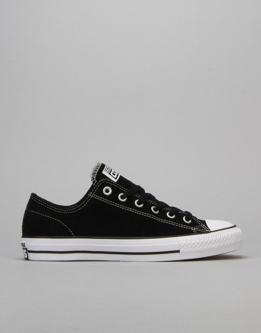 Converse CONS CTAS Pro Suede Skate Shoes - Black/White