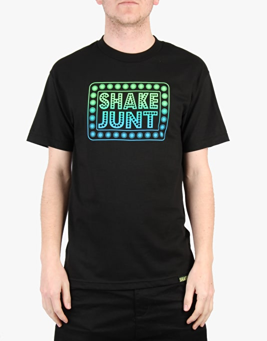 Shake Junt Box Logo T-Shirt - Black/Green/Blue