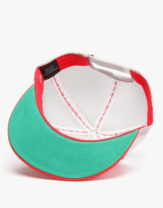 Chocolate Heart Mesh Cap - Red