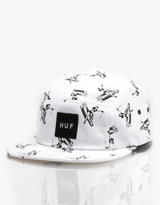 HUF Joyride Volley 5 Panel Cap - White